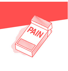The pack of cigarettes with inscription pain vector