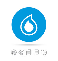 water drop sign icon tear symbol vector image