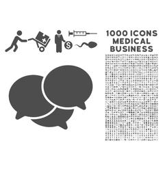 Webinar Icon with 1000 Medical Business Symbols vector image vector image