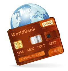 World Credit Card Concept vector image vector image