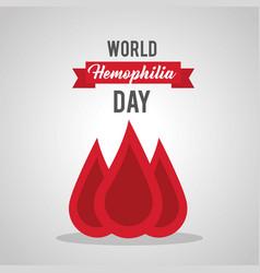 World hemophilia day blood drop medical healthcare vector