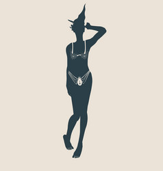 Young witch icon witch silhouette vector
