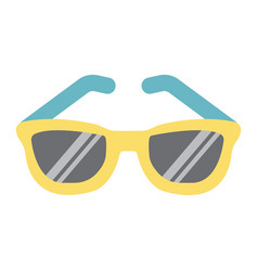 Sunglasses flat icon travel and tourism vector