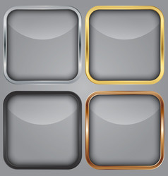 Blank app icons set vector