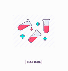 Collection of test tubes with red liquid vector