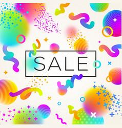 Abstract festive multicolored sale design vector
