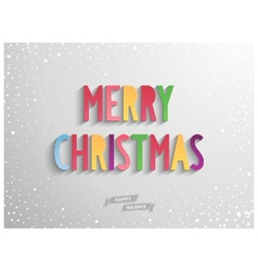 Merry christmas candy lettering on grey background vector