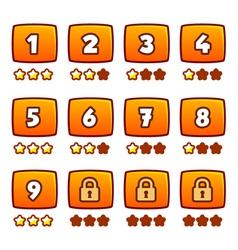 Orange level selection vector image