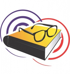 Reading icon vector