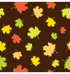 Seamless background with maple vector