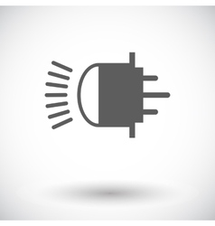 Xenon car lamp flat icon vector