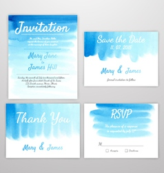 Set invitation watercolor vector