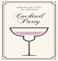 Cocktail party invitations2 vector