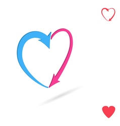 Arrowed heart love concept vector