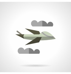 Unmanned airplane flat icon vector image