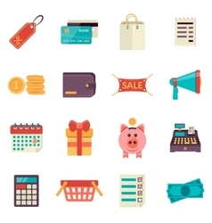 Set of flat shopping icons sale icons vector