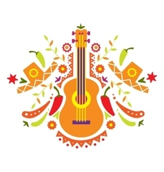 Mexia guitar and various elements vector