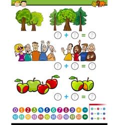 mathematical algebra task for kids vector image