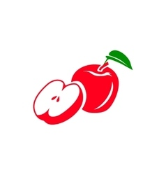 Red apple icon simple style vector