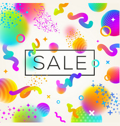 abstract festive multicolored sale design vector image vector image