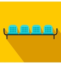 Airport seats flat icon vector