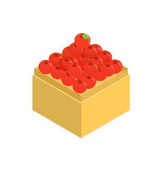 Apple in supermarket icon isometric 3d style vector image vector image
