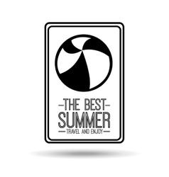 Ball card best summer travel and enjoy vector