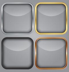 Blank app icons set vector