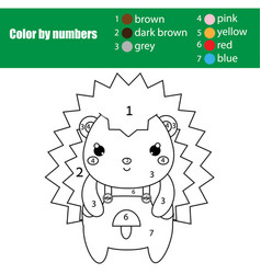 Children educational game coloring page with cute vector