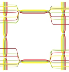 color cables vector image