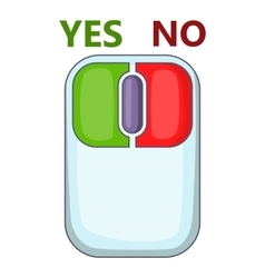 Computer mouse with red and green buttons icon vector