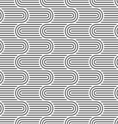 Curved striped geometric seamless pattern vector image vector image