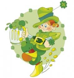 dancing leprechaun vector image vector image