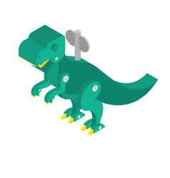dinosaur toy clockwork vintage tyrannosaurus and vector image
