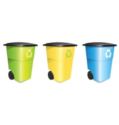 Garbage container set vector