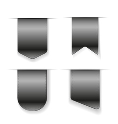 Grey ribbon set vector