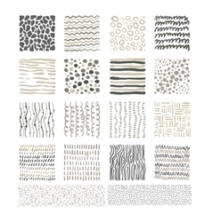 Handdrawn Doodle Textures Black and White vector image vector image