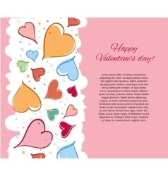 Happy Valentine Day Card vector image vector image