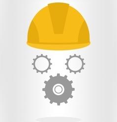 Helmet with gears vector