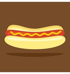 Hotdog Bun vector image