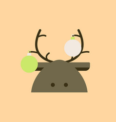 New year deer deer decorated vector