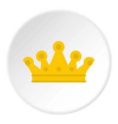 Royal crown icon circle vector