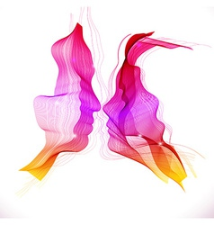 Silhouettes of loving couple abstract vector image