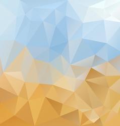 Sky desert triangular background vector