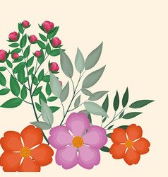 spring floral decoration image vector image