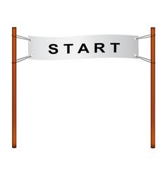 start flag in retro design vector image vector image