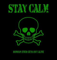 stay calm vector image
