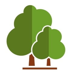 Summer tree icon vector