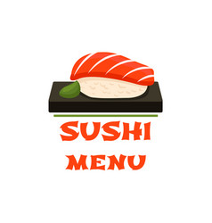 Sushi icon for japanese restaurant menu vector