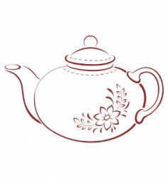 Teapot pictogram vector